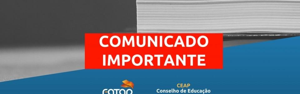 COMUNICADO 01/2016 – ORIENTAÇÃO SOBRE A VALIDAÇÃO EM TEOLOGIA
